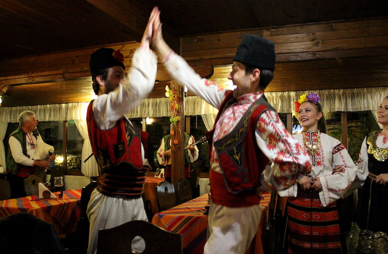 and then we really had a lot of fun with Bulgarian folklore music and dancing.