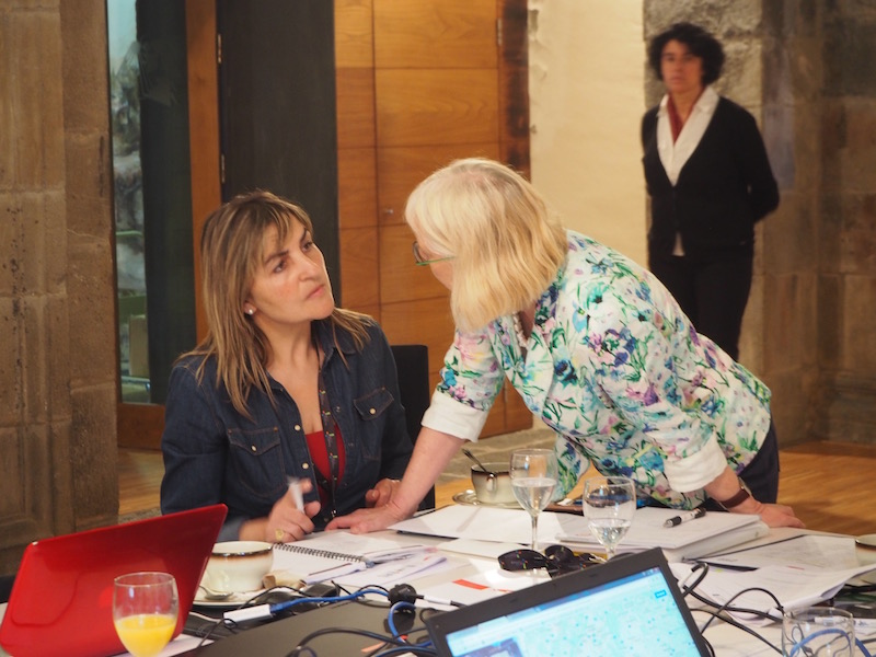 Pilar Bahamonde (left) and Karin Drda-Kühn during the EUROPETOUR work meeting in Potes (c) Elena Paschinger