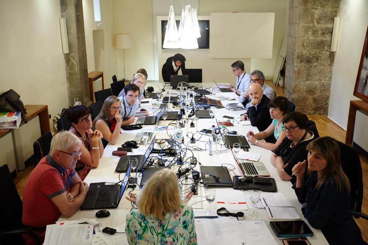 ... our actual project meeting & discussions take place inside this beautiful old church building in Potes ... (c) Miguel de Arriba SRECD