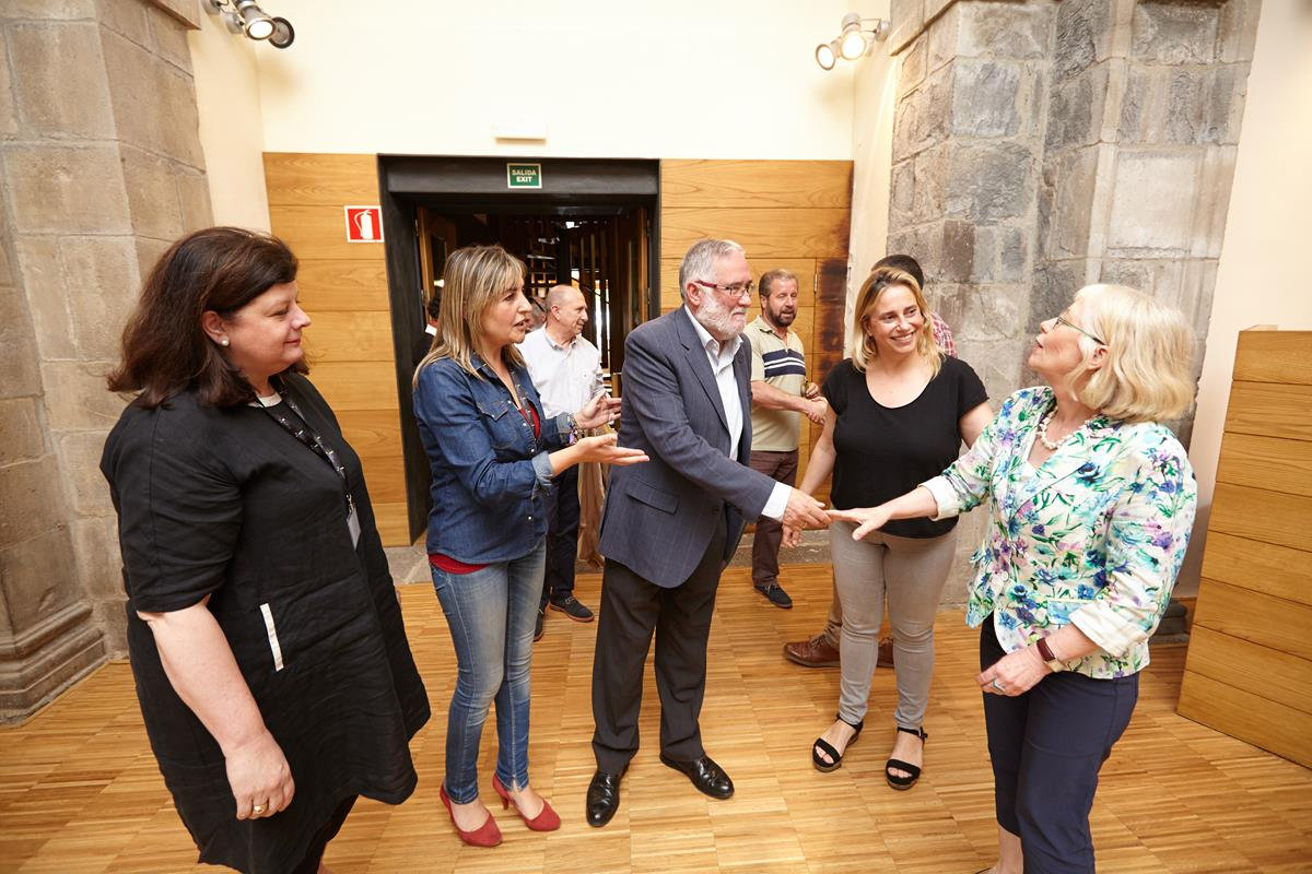 Being welcomed by the local government of Cantabria ...