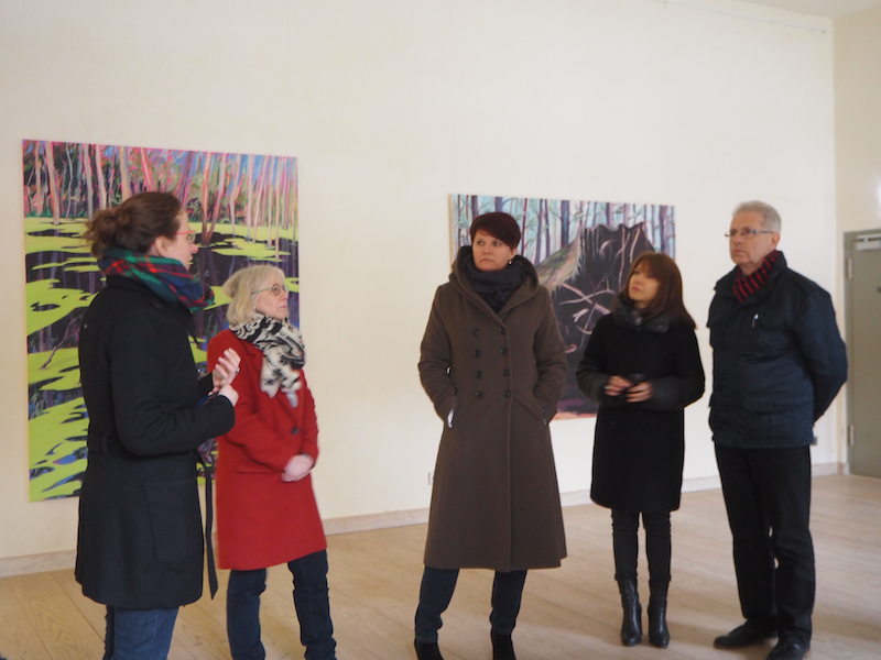 .. and learning about Chorin monastery being re-used as an art exhibition space.