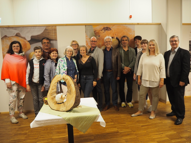 "Members of the EUROPETOUR team at the renowned Cheese Experience World ""Die Käsemacher"" in Heidenreichstein, Waldviertel."